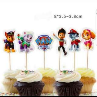 Last set! Paw patrol for Cake/Cupcake/Muffin Toppers for Party Decoration/Figurine