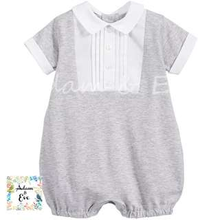 ♫♫Baby Fashion♫♫ Baby Romper B3 – Grey Formal Romper $12.90
