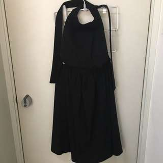 Comme des garcons shirt apron wool dress