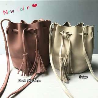 Korean Tassel Drawstring Shoulder Bag