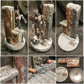 廢墟 場景模型地台 1:6比例