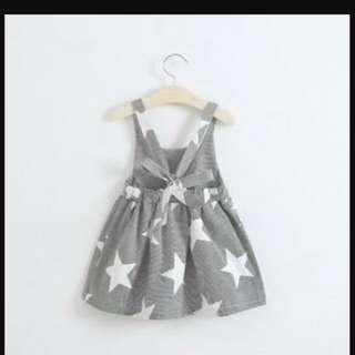 95731 Back Stripe Star Dress