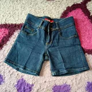 Celana pendek polos jeans