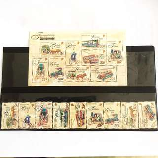 1997 Transport Stamps (2 Full Sets)