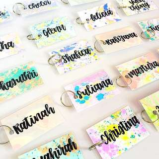Customisable keychain name keychains wedding Gifts Tag Door Gift Personalised Customised Chain chains Kids Birthday Goodie Colleague Students Colleagues Teacher Farewell Calligraphy Classmates Party Student Friend Friends Classmate present presents key