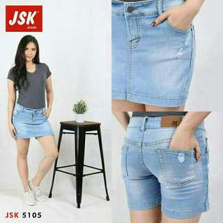 Celana Rok Skirt Wanita Short Denim Mini Skirt Cewek Trendy Modis JSK JEANS Import