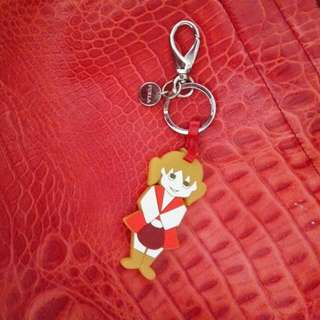 Furla Rubber Girl Bag Charm Steel Key chain