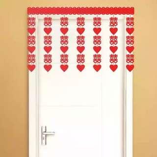 Chinese Wedding Door Curtain