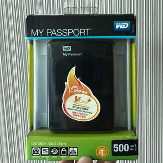 全新 WD My passport 500GB USB3.0
