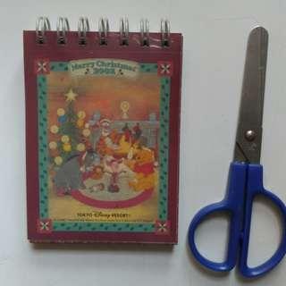 Winnie the Pooh - 2002年聖誕版迷你 記事簿 /memo pad