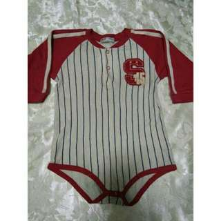 SALE preloved red baseball shirt style toddlers boys onesie