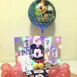 Mickey Mouse Balloon Surprise Gift Box