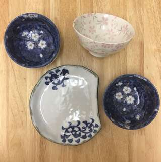 Japan purchased bowls and plates (all 4)
