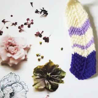 """Crochet Feather Patterned Bookmark 