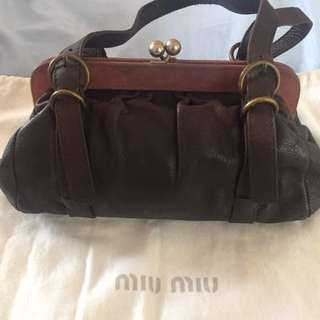 Authentic Miu Miu Leather bag
