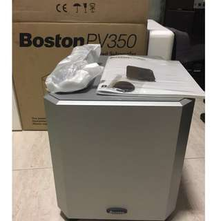 Brand NEW Boston Acoustics PV350 8-Inches Powered Active subwoofer (200 Watts RMS, 400 Watts Peak)