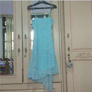 Soft Blue Mini Dress