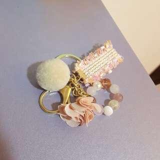 草莓晶,白貓眼,毛球,小香鑰匙圈