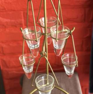 Romantic glass candle stand