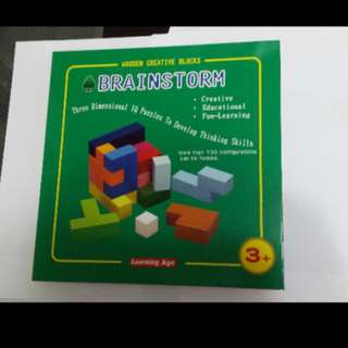 Wooden Creative Blocks BRAINSTORM (Learning for kids)