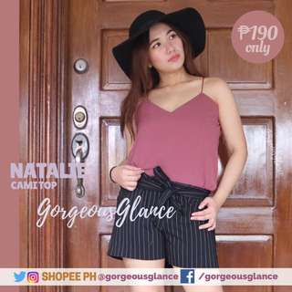 2 for ₱339 Natalie cami string top 🌸