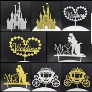 (Buy 4 get 1 free) Wedding cake toppers/Props