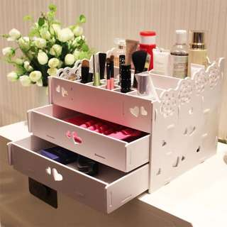 特價-:山茶花圖案花邊化妆品收納盒