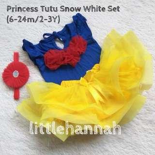 ♥️Instock - Princess Tutu Snow White Set (6-24m/2-3Y)