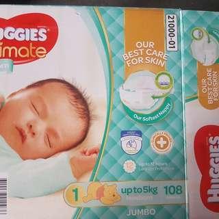 Newborn huggies nappies 80pieces