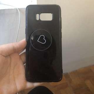 Samsung s8 case w/pop socket