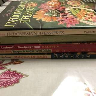 A set of 5 cookbooks (set 4)