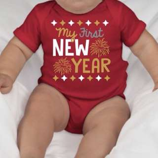 Baby onesies: my first new year