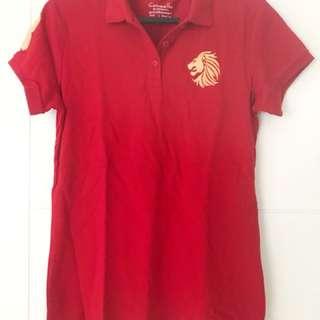 GIORDANO polo shirt, bright red