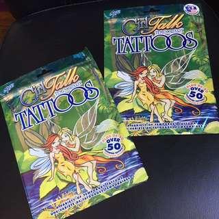 Temporary tatoo lot of 2 packs