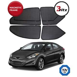 Hyundai Elantra (YOM 2016 Till Present) Premium BRITZ Shades (Customised Magnetic Sunshade)