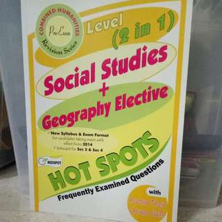 O Level SS + Geog Elective Hot Spots + free exam paper
