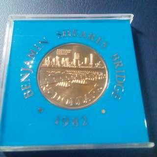 Coin Peringatan Singapore, 5 Dollars