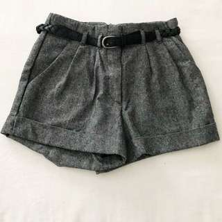 Forever 21 Sophisticated Pleated Shorts (with belt)