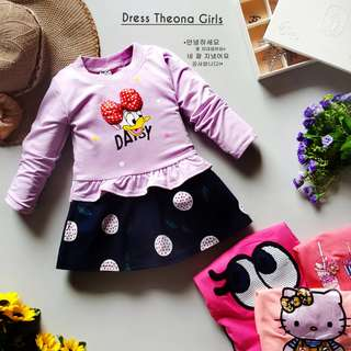 LS DRESS THEONA GIRLS (GROSIR MIN 6PCS)