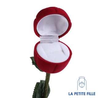 Ring Box: Valentine Ring Rose Flower Shape Box