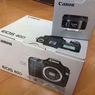 Canon 40D 公司貨 少用 鏡頭可另購