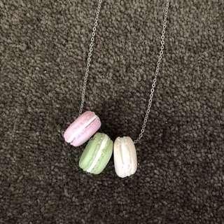 Handmade Pastel Macaron Necklace