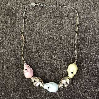 Lovisa Pastel Skull Heavy Metal Necklace
