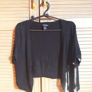 Black Short Sleeves Bolero