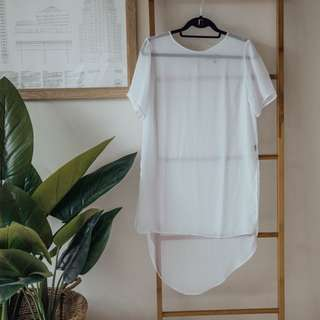 Her Pony The Label - Sheer Dress Shirt