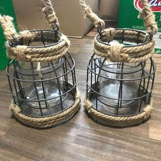 Rustic caged container