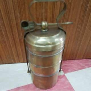 Vintage Brass Tiffin Food Carrier