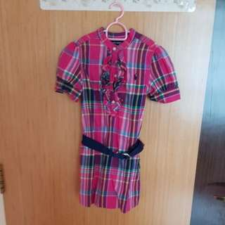 Authentic Polo Ralph Pink Checker Dress
