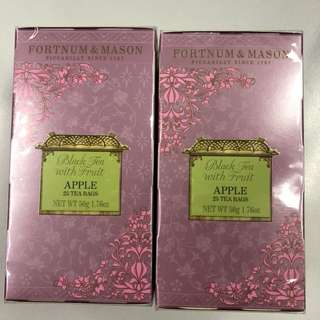 Fortnum & Mason Black tea with Apple x2