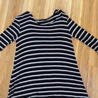 Black & white Tshirt Dress